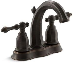 KOHLER Kelston® Two Handle Centerset Bathroom Sink Faucet in Oil Rubbed Bronze K13490-4-2BZ