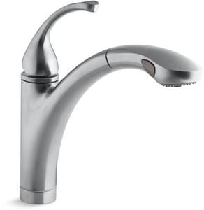 KOHLER Forte® Single Handle Pull Out Kitchen Faucet in Brushed Chrome K10433-G