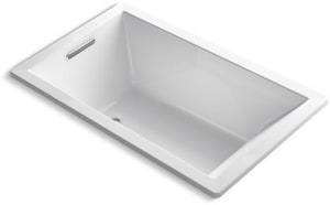 KOHLER Underscore® 60 x 36 in. Air Bath Drop-In Bathtub with Reversible Drain in White K1849-GW-0
