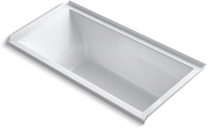KOHLER Underscore® 60 x 30 in. Soaker Alcove Bathtub Right Drain in White K1121-R