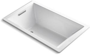 KOHLER Underscore® 60 x 36 in. Soaker Drop-In Bathtub with End Drain in White K1848-0