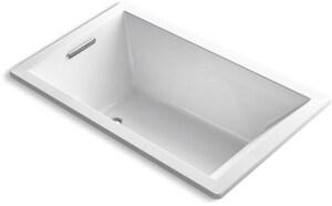KOHLER Underscore® 60 x 36 in. Soaker Drop-In Bathtub with End Drain in White K1848