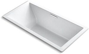 KOHLER Underscore® 72 x 36 in. Soaker Drop-In Bathtub Center Drain in White K1834-0