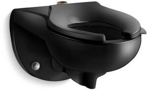 KOHLER Kingston™ Elongated Toilet Bowl in Black Black K4325-7
