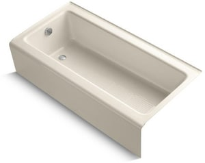 KOHLER Bellwether® 60 x 30-1/4 in. Soaker Alcove Bathtub Left Drain in Almond K837-47