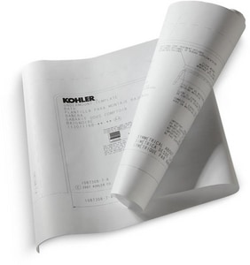 Kohler Underscore® Under-Counter Install Kit for Kohler 1130/1168 Whirlpool or Bath K590-NA