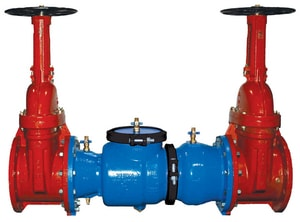 Model 350 4 in. Epoxy Coated Ductile Iron Flanged 175 psi Backflow Preventer W350OSYP