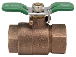 Zurn Wilkins Model 850XL 1 in. Bronze Full Port Union FNPT x FNPT 400# Ball Valve W850TUXLG