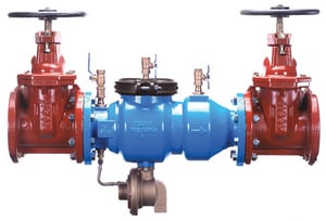 Zurn Wilkins 375 2-1/2 in. Epoxy Coated Ductile Iron Flanged 175 psi Backflow Preventer W375GL
