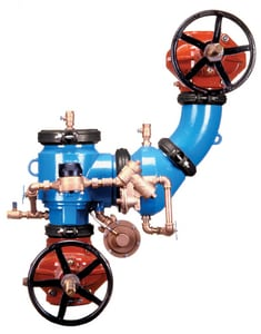 Zurn Wilkins Model 475DA 4 in. Epoxy Coated Ductile Iron Flanged 175 psi Backflow Preventer W475DAVGFLFP