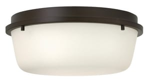 Hinkley Lighting 60W 2-Light Medium E-26 Base Flushmount Ceiling Fixture in Oil Rubbed Bronze H3851OZ