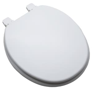 PROFLO® Elmore Round Closed Front Toilet Seat in White PFTSWE1001WH