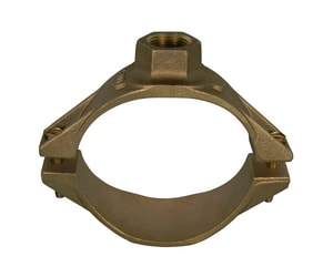 A.Y. McDonald 6 x 6-9/10 in. IPS Brass Single Strap Saddle for C900 Pipe M3806U