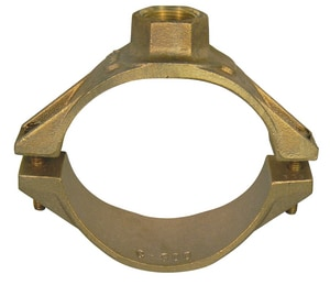 A.Y. McDonald 6 x 1 in. CC Brass Saddle M3805UG