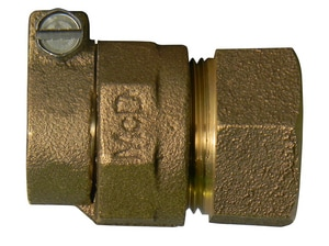 A.Y. McDonald 1 x 3/4 in. CTS Compression x FNPT Brass Reducing Coupling M7475422GF
