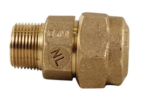 A.Y. McDonald 1 in. CTS Compression x MIP Brass Straight Coupling M74753QG