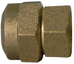 A.Y. McDonald 1 in. CTS Compression x FIP Brass Straight Coupling M74754QG