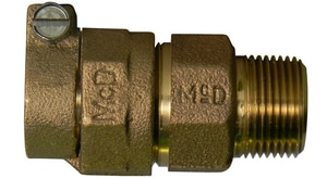 A.Y. McDonald 3/4 in. Compression x MNPT Brass Coupling M7475322F at Pollardwater