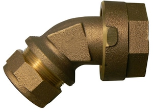 A.Y. McDonald 1 in. CTS Compression x Copper Female Flared Swivel Brass Adapter Coupling M74750SQG