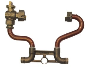 A.Y. McDonald 1 x 12 in. Male Meter Horizontal Resetter with Angle Ball Valve Lead Free M718412WX at Pollardwater