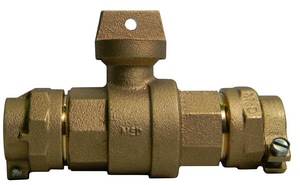 A.Y. McDonald 1-1/4 in. CTS Compression Brass Ball Valve Curb Stop Lead Free M7610022 at Pollardwater