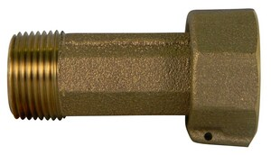 A.Y. McDonald 1 x 2-63/100 in. Meter Swivel Nut x MNPT Brass Straight Meter Coupling M74622GKE
