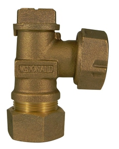 A.Y. McDonald 1 in. CTS x Meter Light Weight Angle Valve M74602TGF