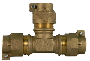 A.Y. McDonald 1 in. CTS Compression Water Service Brass Tee Lead Free M7476022G at Pollardwater