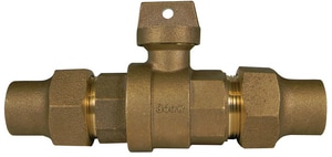 A.Y. McDonald 3/4 in. Flared Water Service Brass Curb Stop Ball Valve M76100F