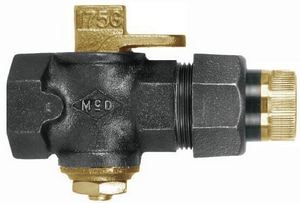A.Y. McDonald 6276 Series 1-1/4 in. Iron 175 psig FNPT x FNPT Union Lockwing Handle Plug Valve M6276B