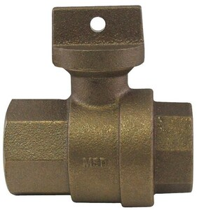A.Y. McDonald 1 in. FIP Brass Ball Curb Stop M76101
