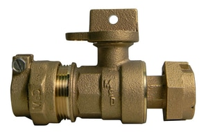 A.Y. McDonald 2 in. Compression x Meter Flanged Straight Ball Valve Lead Free M76100MW22K at Pollardwater