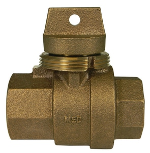 A.Y. McDonald 1 in. FNPT Brass Ball Curb Stop M76105G