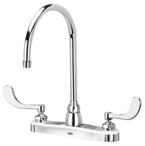 Zurn AquaSpec® 2.2 gpm Double Wristblade Handle Kitchen Faucet with Gooseneck Spout in Polished Chrome ZZ871C4XL4F