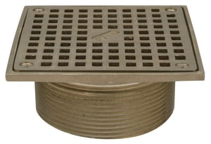 Zurn 8-1/10 in. Square Top Station Strainer ZZN4008S