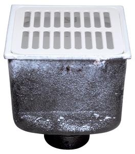 Zurn 8 x 8 x 8-5/8 in  Floor Mount Cast Iron Floor Sink
