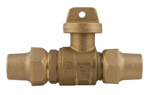 Ford Meter Box 1 in. Flared Brass Ball Valve Curb Stop FB22444NL