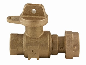 Ford Meter Box 3/4 in. FIPT x Meter Swivel Brass Ball Valve with Tee Handle and Padlock Wing FB13341WNL