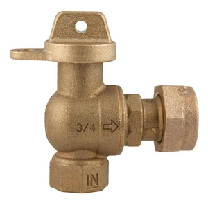 Ford Meter Box 3/4 in. FIP Angle Ball Valve FBA13332WNL