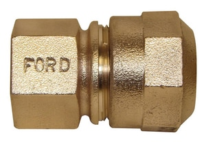 Ford Meter Box 1 x 3/4 in. FIP x CTS Quick Joint Brass Coupling FC1434QNL