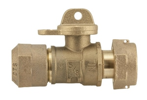 Ford Meter Box 3/4 in. Quick Joint x FIPT Brass Ball Valve Curb Stop FB43232WRQNL