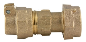 Ford Meter Box 1 in. Meter Swivel x CTS Pack Joint Brass Coupling FC3444NL