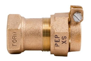 Ford Meter Box 1 x 1-1/4 in. Female Copper Threaded x PEP Pack Joint Brass Coupling FC0634NL