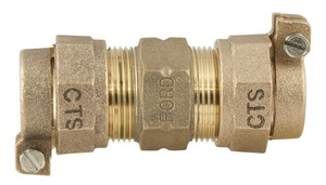 Ford Meter Box 3/4 x 1-1/4 in. CTS x Pack Joint Brass Coupling FC4435NL