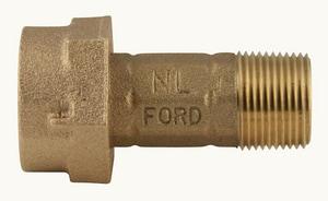 Ford Meter Box 1 x 2-5/8 in. Meter Swivel x MIP Swivel Brass Coupling FC38442625
