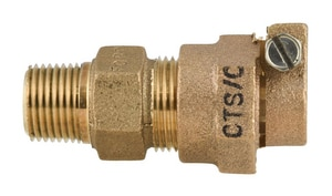 Ford Meter Box 1/2 in. MIP Swivel x CTS Pack Joint Brass Coupling FC84NL