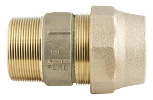 Ford Meter Box 2 in. MIP Swivel x CTS Pack Joint Brass Coupling FC84G