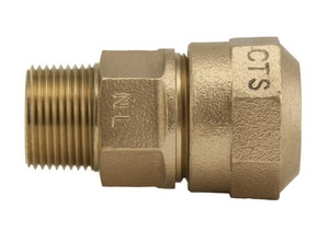 Ford Meter Box 1 in. MIP Swivel x CTS Pack Joint Brass Coupling FC8444Q