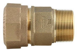 Ford Meter Box 1-1/2 in. MIP Swivel x CTS Pack Joint Brass Coupling FC8466Q