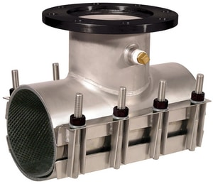 Ford Meter Box 4 in. Mechanical Joint Stainless Steel Tap-on-Pipe Sleeve FFAST4804A